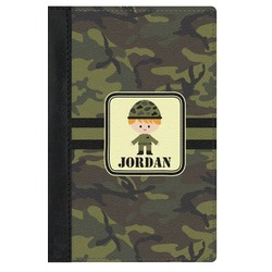 Green Camo Genuine Leather Passport Cover (Personalized)