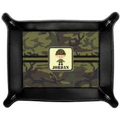 Green Camo Genuine Leather Valet Tray (Personalized)