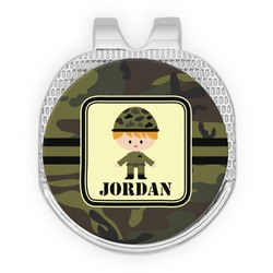 Green Camo Golf Ball Marker - Hat Clip