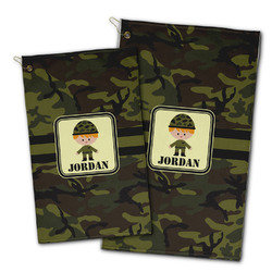 Green Camo Golf Towel - Full Print w/ Name or Text