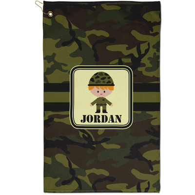 Green Camo Golf Towel - Full Print - Small w/ Name or Text