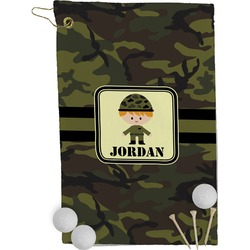 Green Camo Golf Towel - Full Print (Personalized)