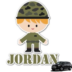 Green Camo Graphic Car Decal (Personalized)