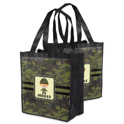 Green Camo Grocery Bag (Personalized)