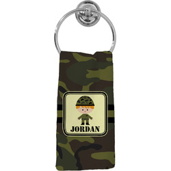 Green Camo Hand Towel - Full Print (Personalized)