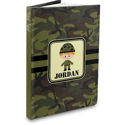 Green Camo Hardbound Journal (Personalized)