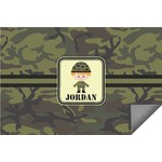 Green Camo Indoor / Outdoor Rug (Personalized)