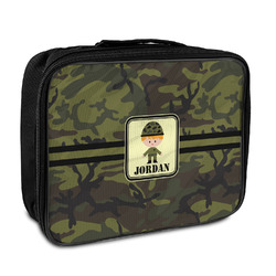 Green Camo Insulated Lunch Bag (Personalized)