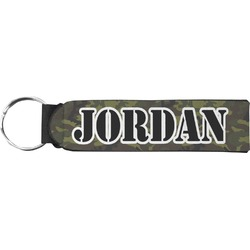 Green Camo Neoprene Keychain Fob (Personalized)