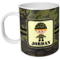 Green Camo Plastic Kids Mug (Personalized)