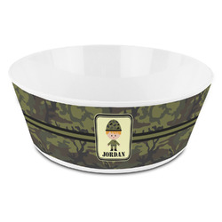 Green Camo Kid's Bowl (Personalized)