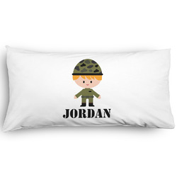 Green Camo Pillow Case - King - Graphic (Personalized)