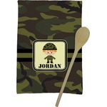 Green Camo Kitchen Towel - Full Print (Personalized)