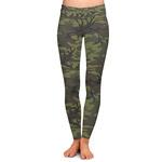 Green Camo Ladies Leggings (Personalized)