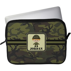 """Green Camo Laptop Sleeve / Case - 12"""" (Personalized)"""