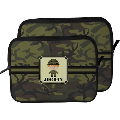 Green Camo Laptop Sleeve / Case (Personalized)