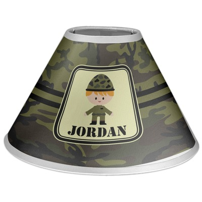 Green Camo Coolie Lamp Shade (Personalized)