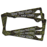 Green Camo License Plate Frame (Personalized)
