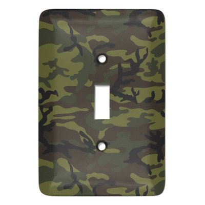 Green Camo Light Switch Cover (Single Toggle) (Personalized)
