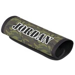 Green Camo Luggage Handle Cover (Personalized)