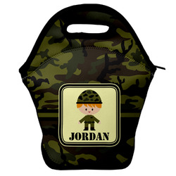 Green Camo Lunch Bag w/ Name or Text