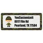 Green Camo Return Address Labels (Personalized)