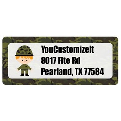 Green Camo Return Address Labels (Personalized)