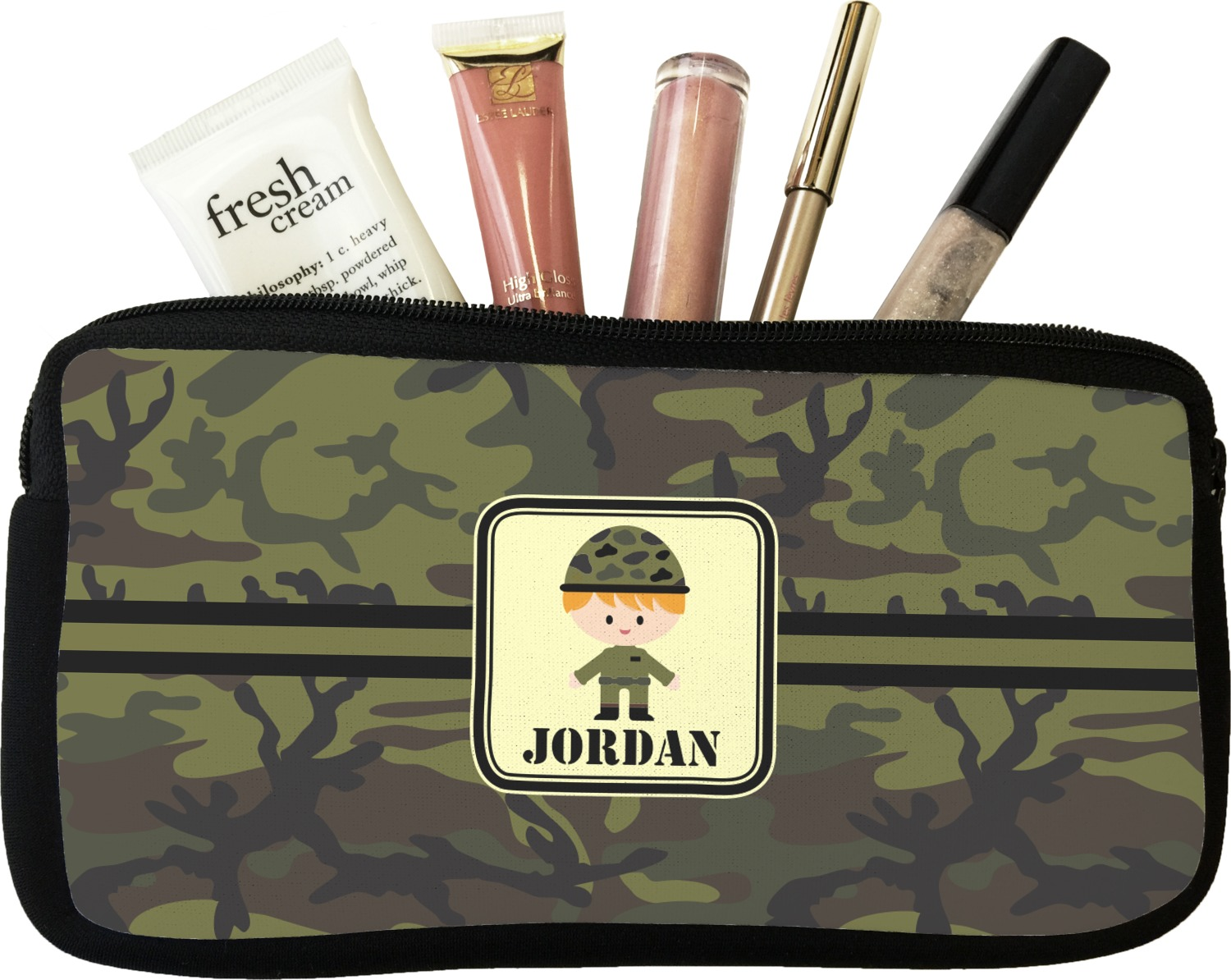 935841f4b4df Green Camo Makeup   Cosmetic Bag (Personalized) - YouCustomizeIt