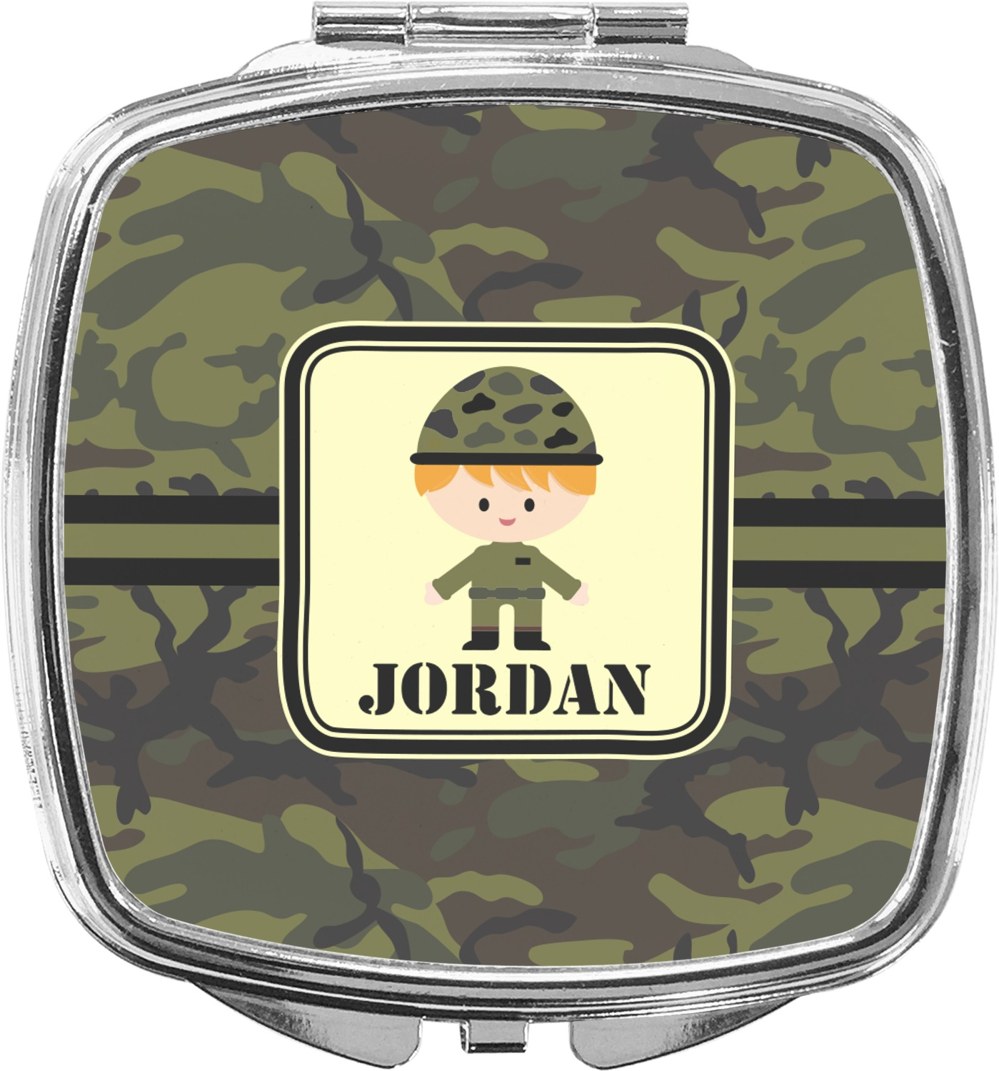 a1ab864a7a19 Green Camo Compact Makeup Mirror (Personalized) - YouCustomizeIt