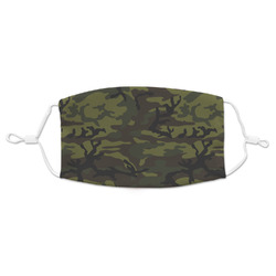 Green Camo Adult Cloth Face Mask (Personalized)