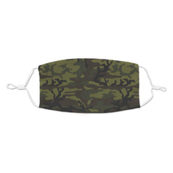Green Camo Kid's Cloth Face Mask (Personalized)