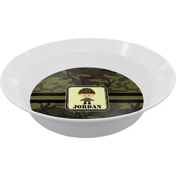 Green Camo Melamine Bowl - 12 oz (Personalized)