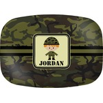 Green Camo Melamine Platter (Personalized)