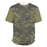 Green Camo Men's Crew T-Shirt (Personalized)