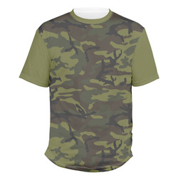Green Camo Men's Crew T-Shirt (Personalized)