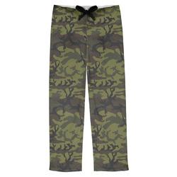 Green Camo Mens Pajama Pants (Personalized)