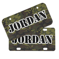 Green Camo Mini/Bicycle License Plates (Personalized)