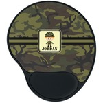 Green Camo Mouse Pad with Wrist Support