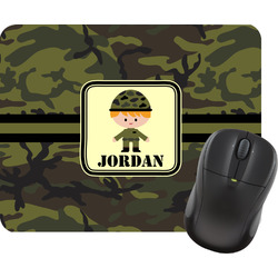 Green Camo Mouse Pad (Personalized)