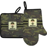 Green Camo Oven Mitt & Pot Holder (Personalized)