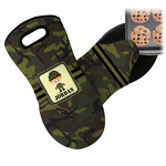 Green Camo Neoprene Oven Mitt (Personalized)