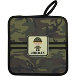 Green Camo Pot Holder w/ Name or Text