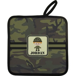 Green Camo Pot Holder (Personalized)