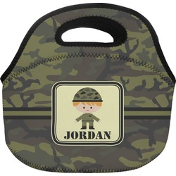 Green Camo Lunch Bag (Personalized)