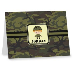 Green Camo Notecards (Personalized)