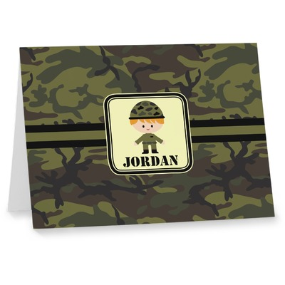 Green Camo Note cards (Personalized)