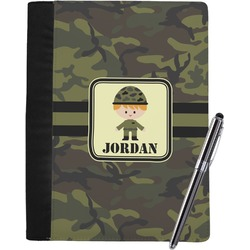Green Camo Notebook Padfolio (Personalized)
