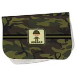 Green Camo Burp Cloth - Fleece w/ Name or Text