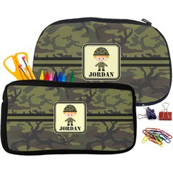 Green Camo Pencil / School Supplies Bag (Personalized)