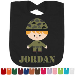 Green Camo Baby Bib - 14 Bib Colors (Personalized)
